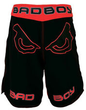 NEW! Bad Boy Legacy Mens Fight Shorts - Black & Red - for MMA, BJJ,, UFC, Badboy