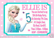 PERSONALISED FROZEN BIRTHDAY PARTY INVITATIONS / THANK YOUS ELSA - OLAF - ANNA