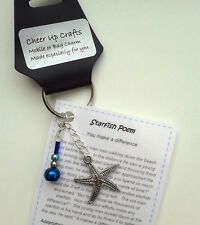 Starfish story 'Cheer up chain' - keyring / bag charm, novelty gift, present