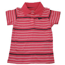 New Nike Infants baby girls pink striped short sleeve cotton polo shirt 5 sizes