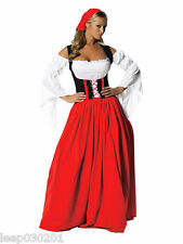 Sexy Ladies Oktoberfest German Maid Fancy Dress Medieval Costume Hen Party Beer