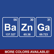 Bazinga Funny T Shirt Elements Geek Nerd Big Bang Theory Sheldon Science Tee