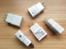 LOT White 2A 5.0V AC USB Home Wall Charger for Samsung Galaxy Note 2 S4 S IV OEM