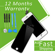 Replacement Front LCD Digitizer Screen for Apple iPhone 4 s 5 c White Black AU