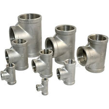 "1/8""-2""  Tee 3 way F/F/F Female Threaded Pipe Fitting Stainless Steel SS 304 NPT"