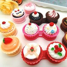 FD285 Travel Sweet Cakes Contact Lens Case Clean Holder Box Container Soak 1PC/