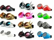 WELDING CYBER GOGGLES GOTH  STEAMPUNK COSPLAY GOTH ANTIQUE VICTORIAN WITH SPIKES