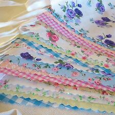 Fabric Bunting Wedding Fete Country Floral Vintage Shabby Chic 10ft/20ft/40ft