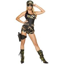 Army Girl Costume Adult Sexy Military Halloween Fancy Dress