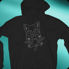 Anime Fairy Tail Happy2 AN New Cat Black hoodie sweatshirt (longsleve available)