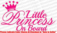 Baby Girl Daughter Princess On Board Vinyl Car/Wall Decal Sticker