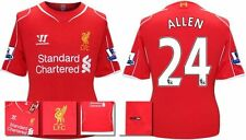*14 / 15 - WARRIOR ; LIVERPOOL HOME SHIRT SS + PATCHES / ALLEN 24 = KIDS SIZE*
