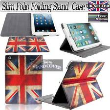 Brand New Union Jack Slim Folio Folding Stand Leather Case Cover For Tablets