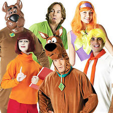 Licensed Scooby Doo Halloween Fancy Dress 80s Mens Ladies Adults Costume Outfits