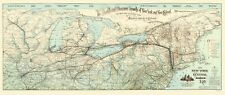 Old Railroad Map - New York Central and Hudson River Railroad 1893 - 23 x 54