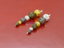Wholesale Lots Hollow Flower Ball Spacer Beads 4mm 6mm 8mm 4 color