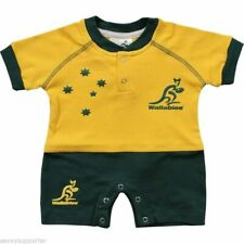 Australian Wallabies Short Infant Toddler Jersey Footysuit 'Select Size' 000-3