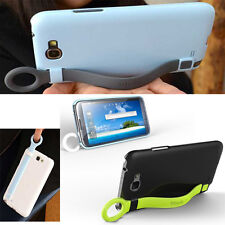 Samsung Galaxy NOTE 2 II N7100 PC Back fitted  Stand Case cover with Cute strap