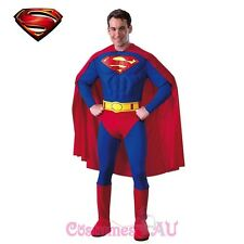 Man of Steel Superman Classic Adult Mens Deluxe Muscle Chest Halloween Costume