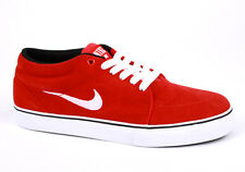 Mens New  NIKE SATIRE MID Red Suede Trainers 599081 610