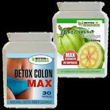 GARCINIA CAMBOGIA HIGHEST STRENGTH 1000MG + DETOX COLON CLEANSE DIET PILLS