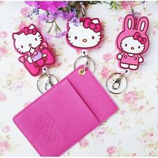 Authentic Hello Kitty Strap Necklace Reel Card Pocket for All Mobile 3 Types