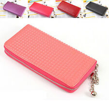 New Fashion Women's Soft Leather Wallet Zip lady Long Card Purse Handbag