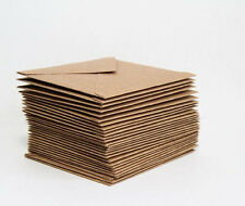 20 x PREMIUM RECYCLED KRAFT CARD ENVELOPES Natural Brown Christmas/Wedding