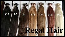"18""NANO TIPS/RINGS #2 1G AAAAGRADE HUMAN HAIR EXTENSIONS 100ST UK SELLER"
