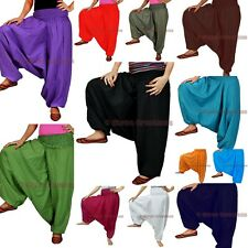 Women Harem Pants Cotton Trousers Baggy Yoga Boho Genie Aladdin Casual Pants
