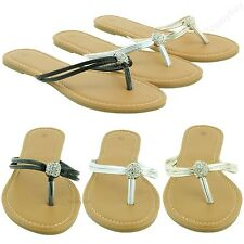 New Women Cute Flat Sandal Two-strap Thong Flip Flops Style Shoes 5-10 Size