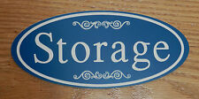 "Engraved ""Storage"" Plastic Room Door / Wall Sign - FREE SHIPPING"