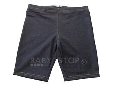 Girls Cycle Shorts Denim Effect Age 5-6 6-7 7-8 8-9 9-10 10-11 11-12 12-13 13-14