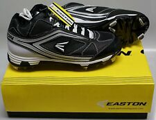 NEW in Box  Easton Phantom MD Team Baseball Metal Cleats Spikes BLACK  SIZE 10.5