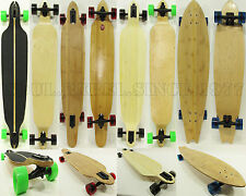 Drop Through Longboards With 'Bamboo' Skateboard Complete Thru Downhill Surf