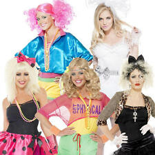 1980s Celebrity Ladies Fancy Dress Pop Star Retro 80s Womens Costumes Outfits