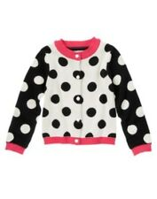 GYMBOREE PURRFECTLY FABULOUS POLKA DOT TIPPED CARDIGAN L/S SWEATER 4 5 6 7 8 NWT