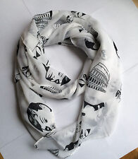 Soft Chiffon Audrey hepburn Scarf/FAST Delivery/ FREE POST