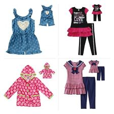 "DOLLIE ME GIRL Dress Tunic Romper Coat SET 6 7 8 10 FITS AMERICAN GIRL 18"" DOLLS"