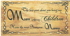 Beautiful wooden plaques shabby handmade signs gifts Mum/Mother/Nan/Nanny/Nannie