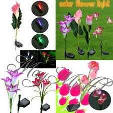 Lily/Calla/Tulip Solar LED Color Changing Flower Garden Path Light Lawn Lamp I