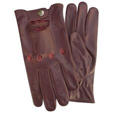 New real soft leather top quality driving gloves stylish fashion burgundy 507