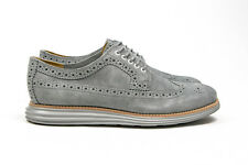 Cole Haan Lunar Grand Long Wing Tip Grey Suede C12527 BNIB SZ 7-13