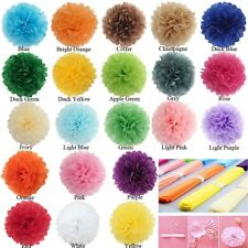 6 8 10 12'' 5PC  Wedding Party Home Outdoor Decor Tissue Paper Pom-Poms Flower