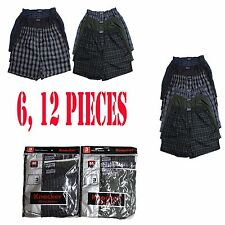 MEN BOXER PLAID SHORT UNDERWEAR 6 PACK SIZE S M L XL 2XL 3XL LOW COTTON