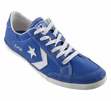 Men New Converse Plimsole Sport Ox Canvas Blue Trainers 137016C