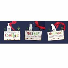 Hallmark Sign with Phrase Ornament Nana Grandkids and Mrs Claus