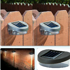 Outdoor Fence Garden Wall Light  Solar Powered LED Patio Landscape Lamp