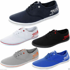 NEW Men's Henleys Canvas-Lace up Shoes/Trainers/pumps Charlie in Navy,Black,Grey