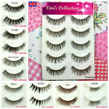 5 Pairs Natural False Eyelashes Short/Long/Thick/Half/Corner/Lower Eye Lashes